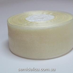 Лента органза 4,0 см, кремовый