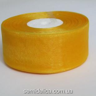 Лента органза 4,0 см, оранжевый