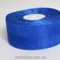 Лента органза 4,0 см, синий