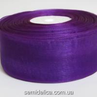 Лента органза 4,0 см, фиолетовый темный