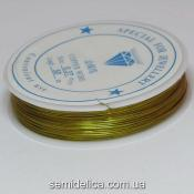 Проволока в катушке 0,37 мм, 50 м, золото