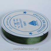 Проволока в катушке 0,30 мм, 50 м оливковый