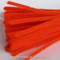Проволока синельная пушистая оранжевая