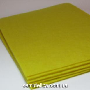 Фетр 1 мм 20х30 желтый