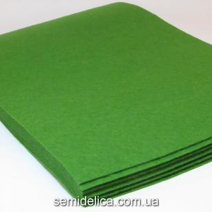 Фетр 1 мм 20х30 зеленый темный
