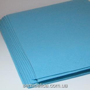 Фетр 1 мм 20х30 голубой