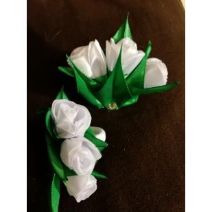 Резинки белая розочка