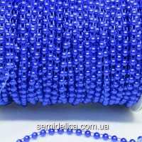 Полубусины на нитке 4 мм, синий