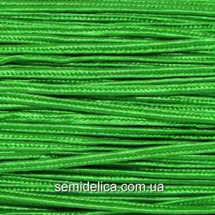Сутажный шнур, сутаж 3мм, зеленый