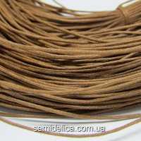 Шнур вощеный 1 мм, коричневый