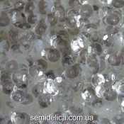 Пайетки Свадебные 6 мм, белый