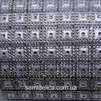Стразовое полотно, шина 10,6х49 см, серебро
