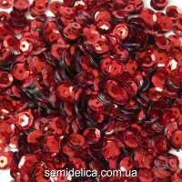 Пайетки 6 мм, красный