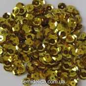 Пайетки 6 мм, золото