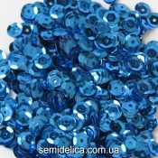 Пайетки 6 мм, синий