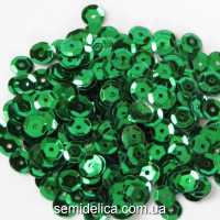 Пайетки 6 мм, зеленый