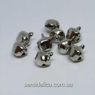 Бубенчики металл 10х8мм, серебро