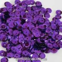 Пайетки 6 мм, фиолетовый