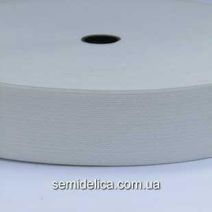 Резинка поясная 4 см, белый