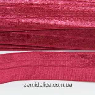 Резинка, лента стрейчевая 2,5 см, красный