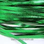 Тесьма-шнур 0,5 см, зеленый