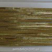 Тесьма - шнур 0,5 см, золото